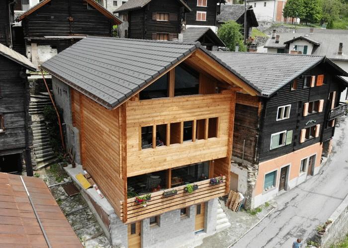 Casa unifamiliare in larice